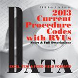 CPT/RVU 2013 Codes on CD-ROM Short and Long Desc