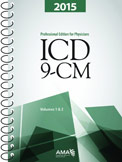 AMA Physician ICD-9-CM 2015 Volumes 1, 2 Spiral