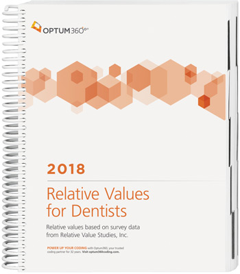 Optum360 Relative Values for Dentists 2018