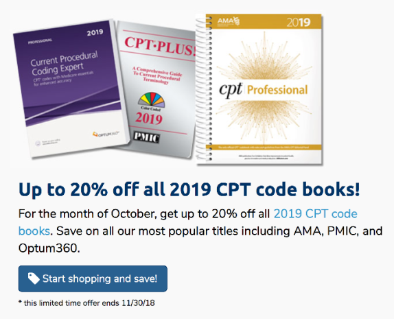 Up to 20% off 2019 CPT
