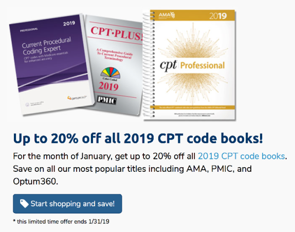 Up to 20% off CPT Coding 2019