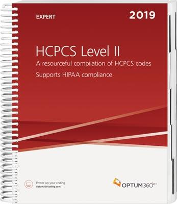 Optum360 HCPCS Level II Expert Spiral 2019