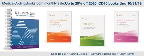 Limited time offer – ICD10 2020 books