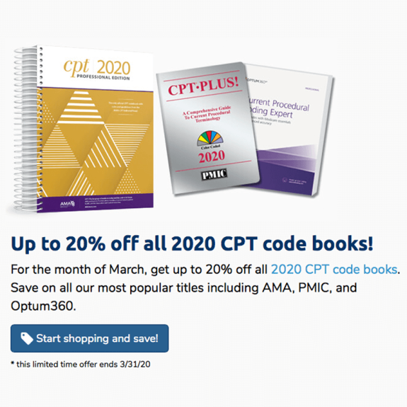 Up to 20% off CPT Code Books
