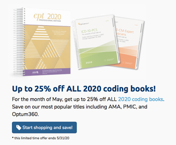 Get up to 25% off ALL 2020 coding books
