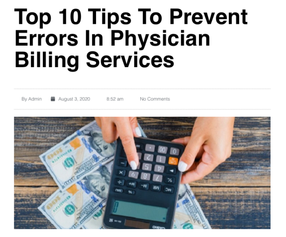Top 10 Tips To Prevent Errors In Physician Billing Services