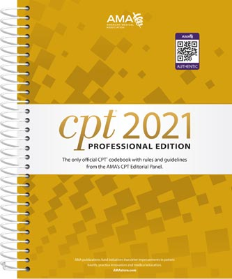 AMA CPT Professional 2021 Edition Spiral