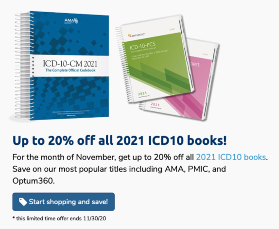 Last ICD10 Coding Book Sale of the Year!