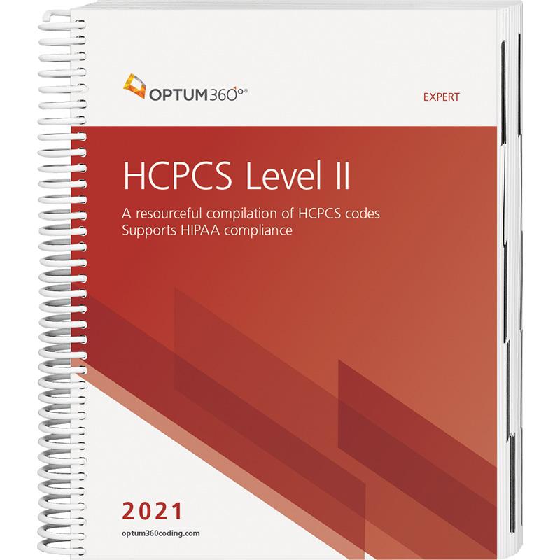 HCPCS Level II Expert 2021 Spiral