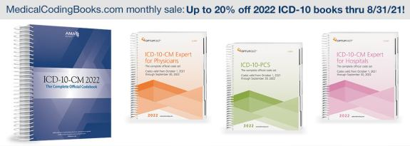 Save up to 20% off 2022 ICD-10 code book pre-orders