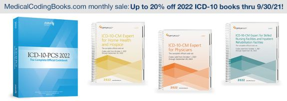 Up to 20% Off 2022 ICD-10 Coding Books